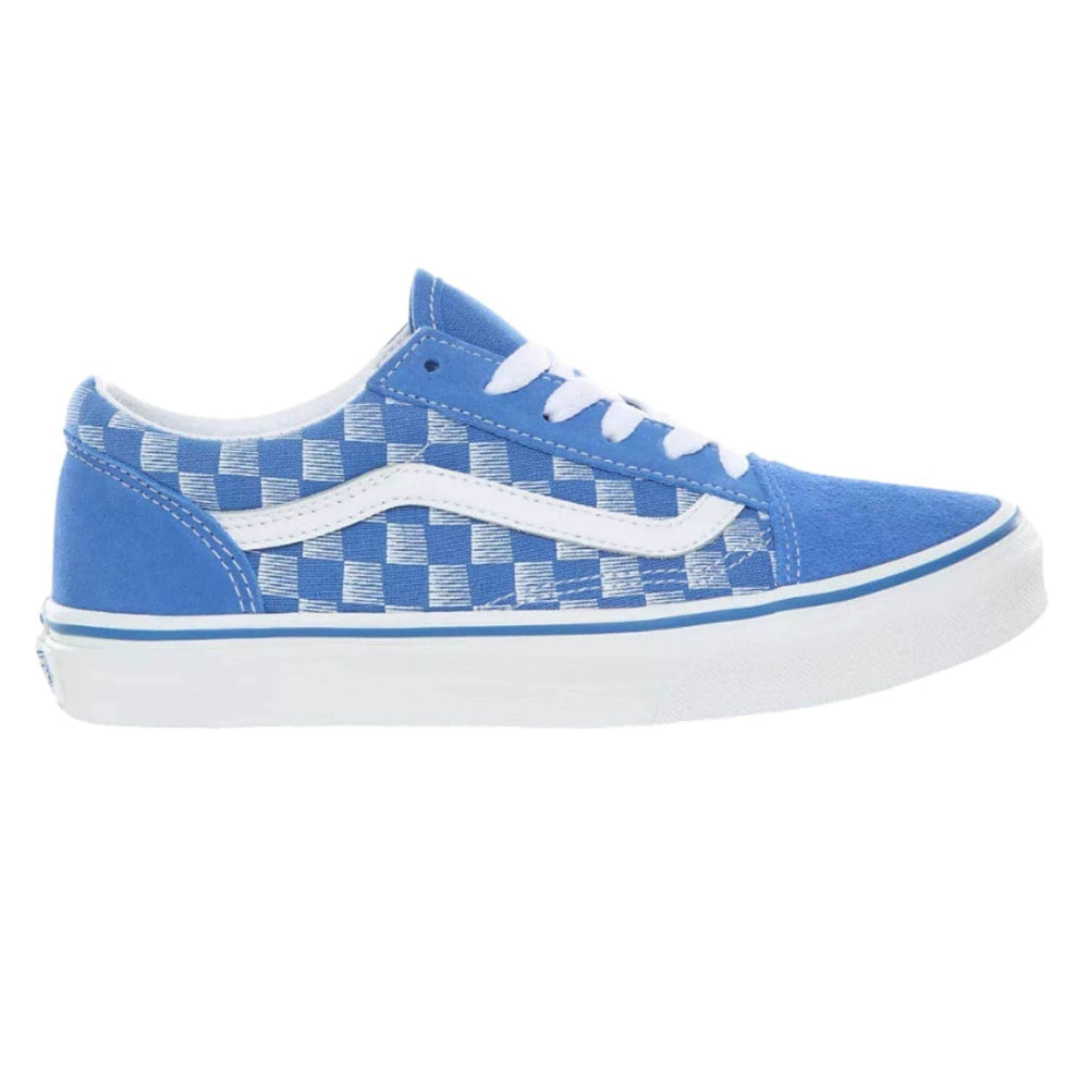 Vans Kids Old Skool Skate Shoes - Racers Edge - Blue/True White