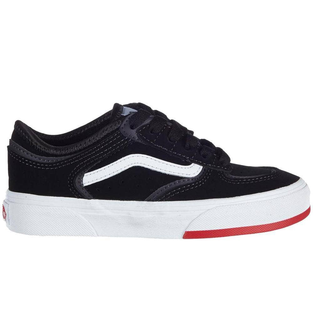 Vans Kids Rowley Classic Skate Shoes - Black/Red Boys Skate Shoes by Vans
