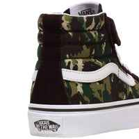 Vans Kids Sk8-Hi Reissue 138 - Animal Camo/Brown/True White Boys Skate Shoes by Vans