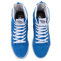 Vans Kids Sk8-Hi Zip Pop Shoes Nebulas Blue/Gargoyle - Boys Skate Shoes by Vans