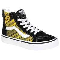 Vans Kids Sk8-Hi Zip Racers Edge Shoes - Black/Yellow Chrome