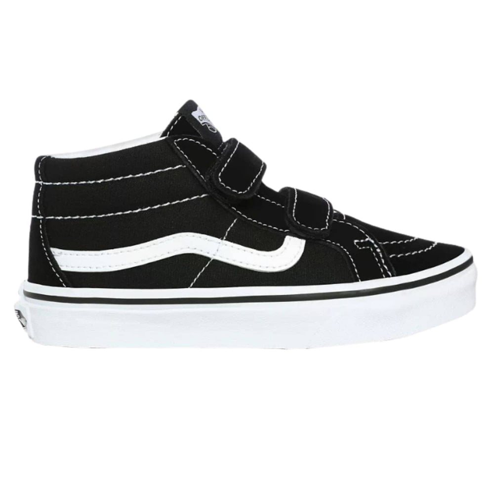 Vans Kids Sk8-Mid Reissue V Shoes - Black/True White - Boys Skate Shoes by Vans