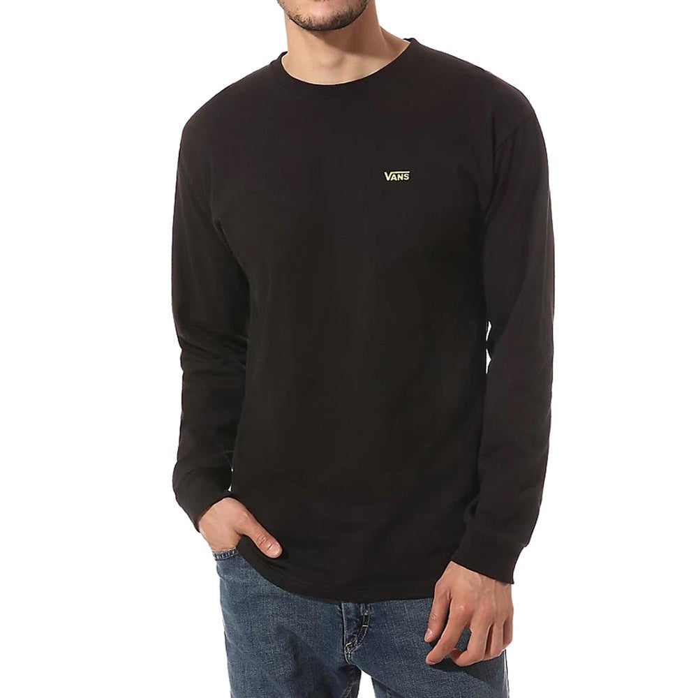 Vans Left Chest Hit L/S T-Shirt - Black Sulphur