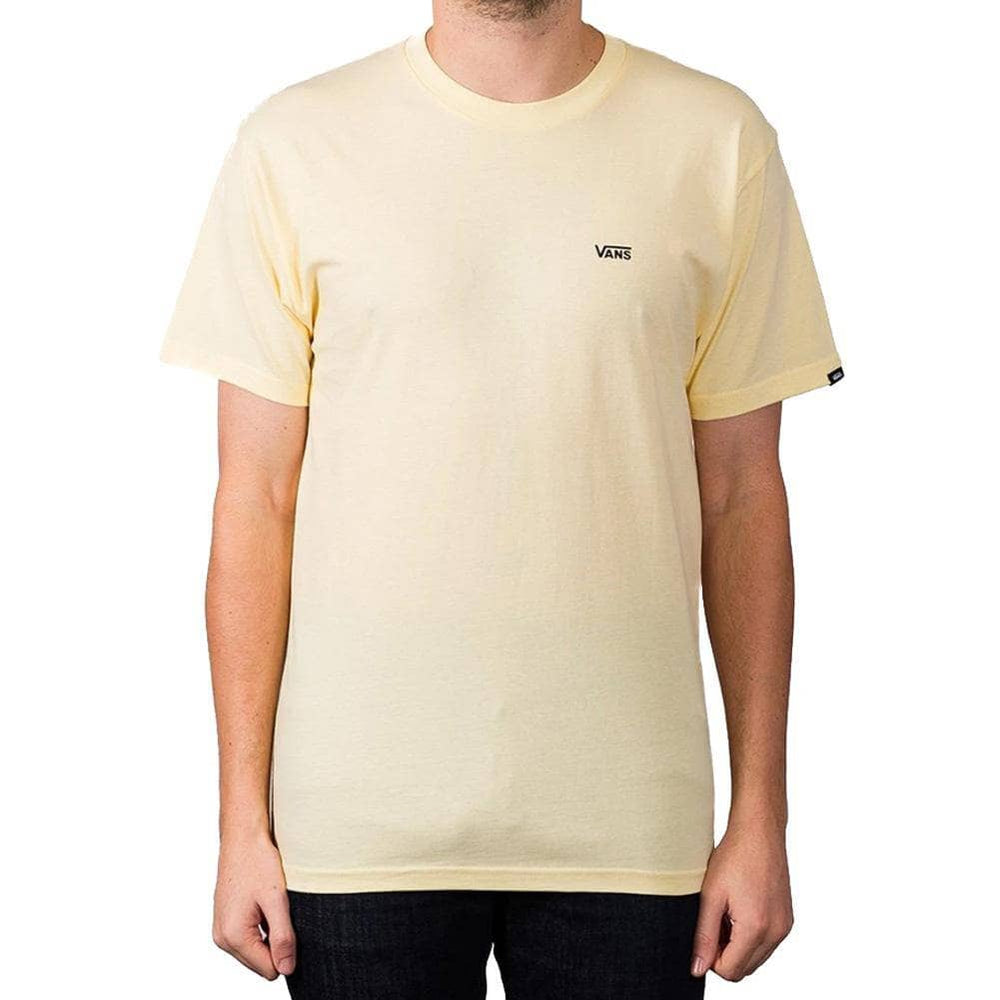 Vans Left Chest Logo T-Shirt - Double Cream Mens Graphic T-Shirt by Vans