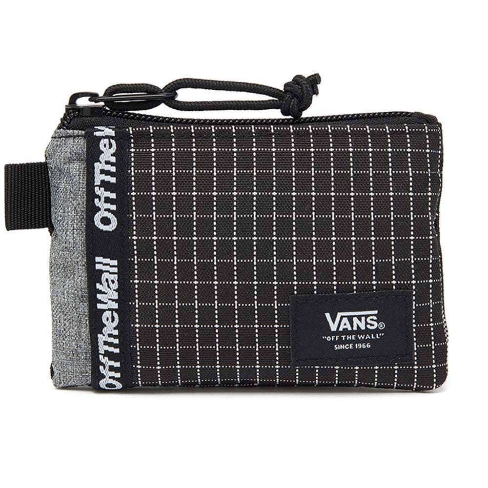 Vans Pouch Wallet - Black/White - O/S (one size) Mens Wallet by Vans