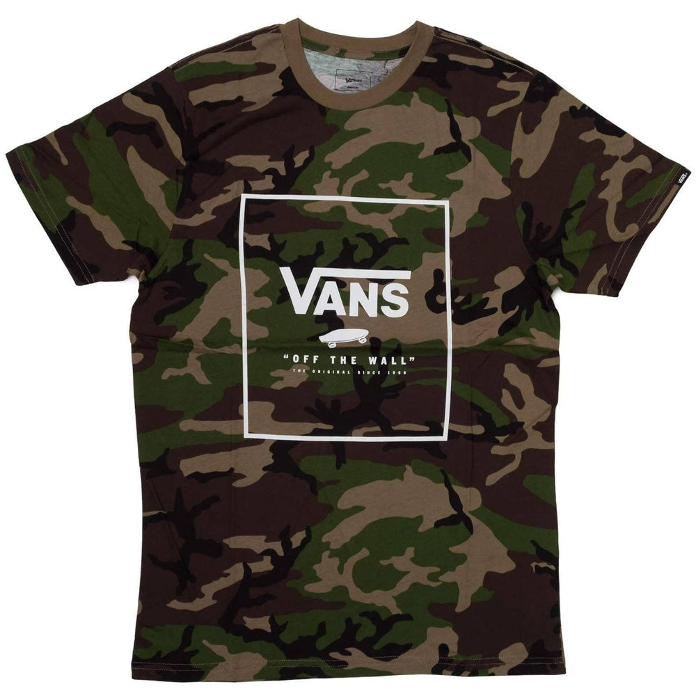 Vans Print Box T-Shirt - Camo/White Mens Graphic T-Shirt by Vans