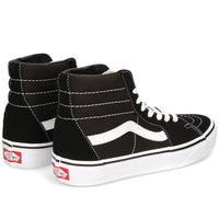 Vans Sk8-Hi Skate Shoes - Black/Black/White