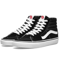 Vans Sk8-Hi Skate Shoes Black/Black/White Mens Skate Shoes by Vans