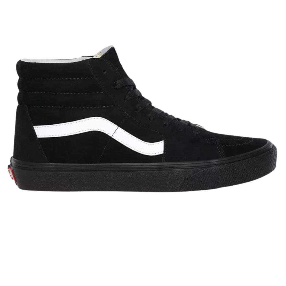 Vans Sk8-Hi Skate Shoes (Pig Suede) - Black / Black - Mens Skate Shoes by Vans