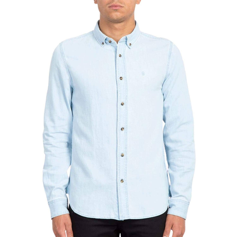 Volcom Bayond L/S Shirt Light Blue - Mens Casual Shirt by Volcom