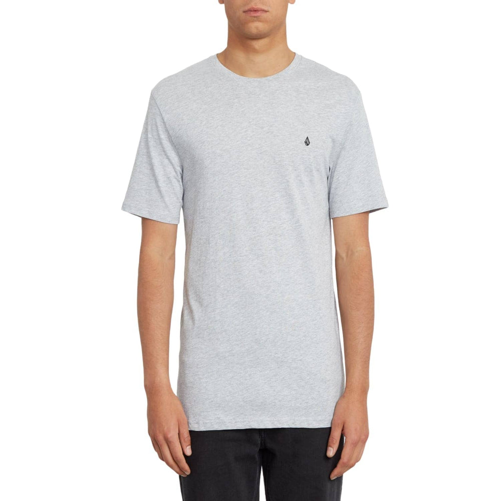Volcom Boys Stone Blanks T-Shirt Heather Grey - Boys Surf Brand T-Shirt by Volcom