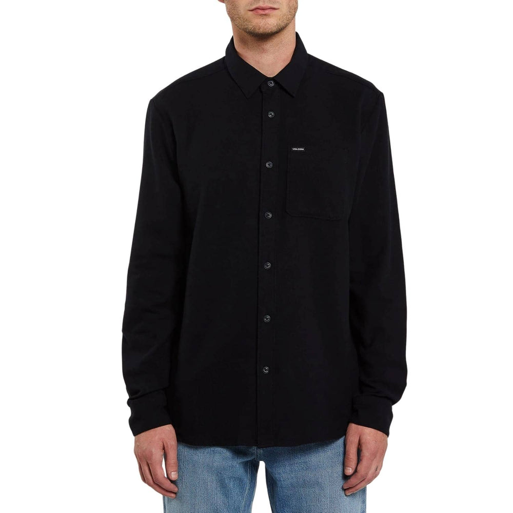 Volcom Caden Solid L/S Shirt Black - Mens Casual Shirt by Volcom
