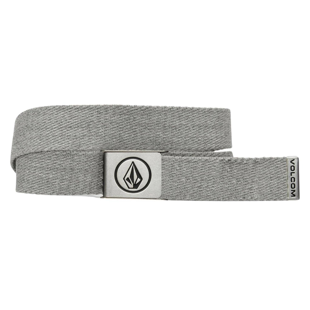Volcom Circle Web Belt Heather Grey One Size - Mens Web Belt by Volcom One Size