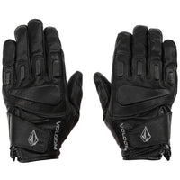 Volcom Crail Leather Snow Glove - Black Snowboard/Ski Gloves by Volcom