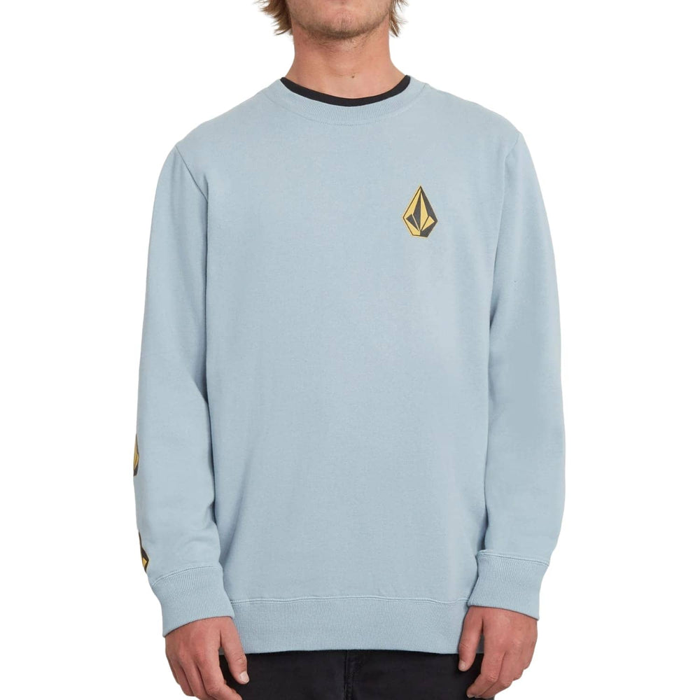 Volcom Deadly Stones Crew Cool Blue - Mens Crew Neck Sweatshirt by Volcom