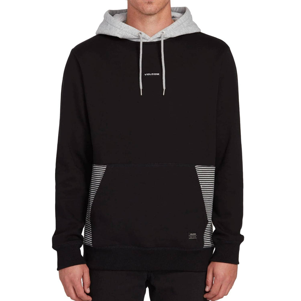 Volcom Forzee Pullover Hood Black - Mens Pullover Hoodie by Volcom
