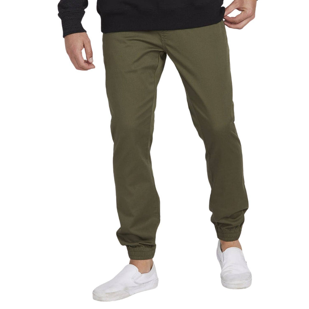 Volcom Frickin Modern Tapered Joggers - Military Green - Mens Joggers by Volcom