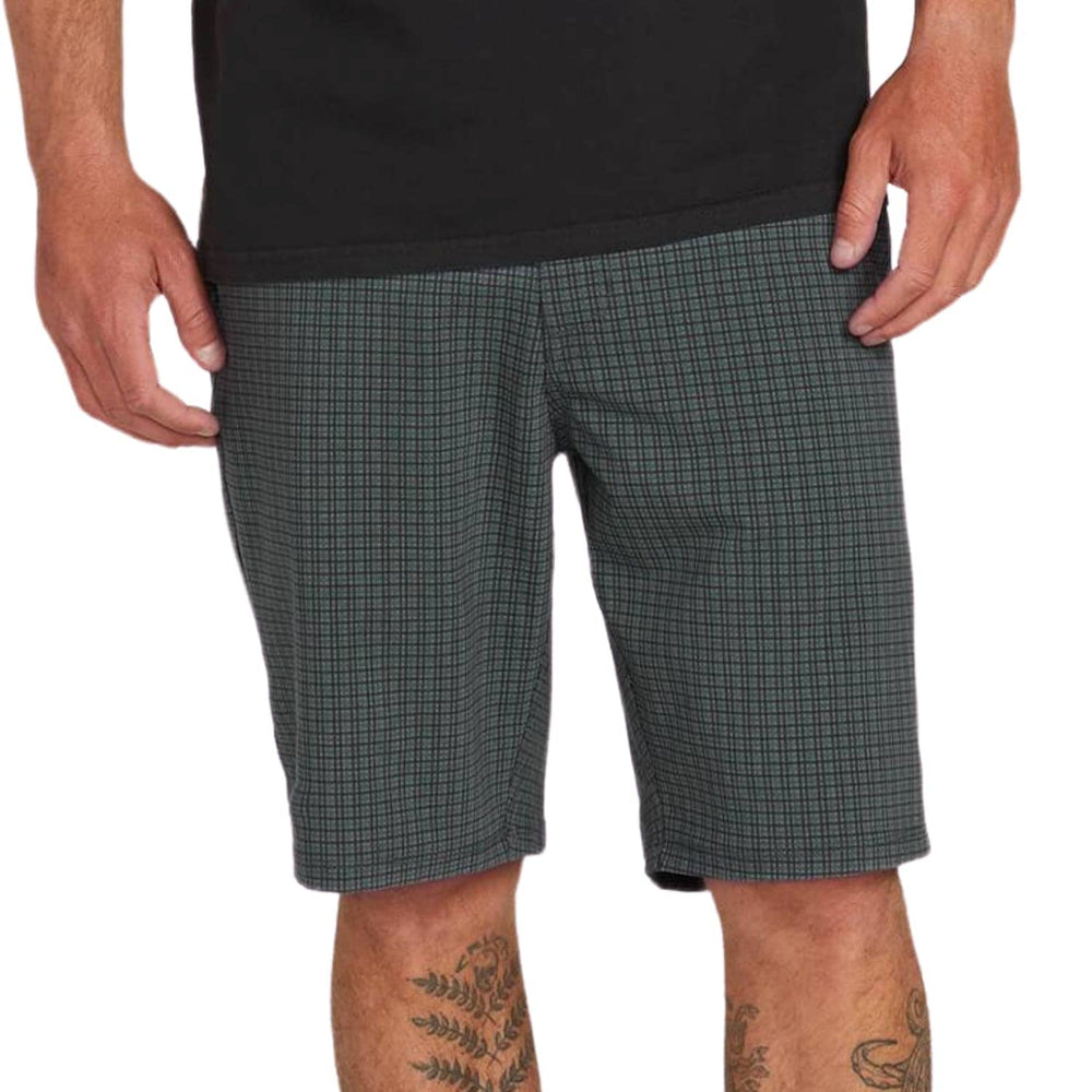 "Volcom Frickin Surf N Turf (SNT) Mix 20"" Hybrid Walkshorts - Dark Charcoal - Mens Hybrid Shorts by Volcom"