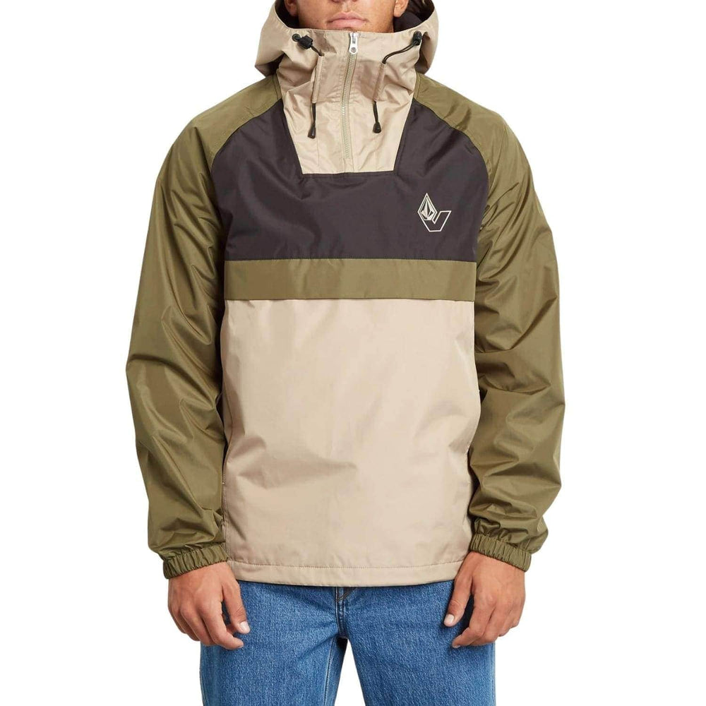 Volcom Kane Jacket - Military - Mens Windbreaker/Rain Jacket by Volcom