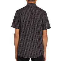 Volcom Levstone Vibes S/S Shirt Dark Charcoal - Mens Casual Shirt by Volcom