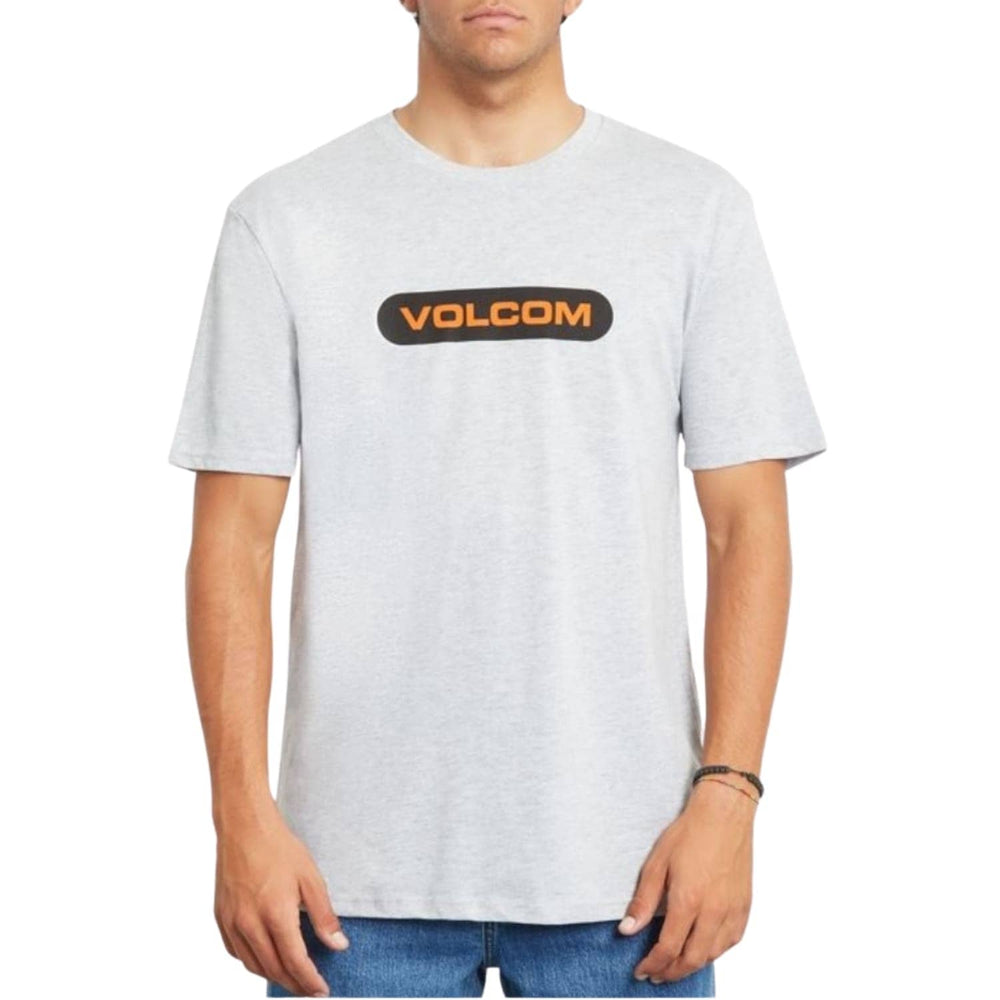 Volcom New Euro T-Shirt - Heather Grey - Mens Graphic T-Shirt by Volcom