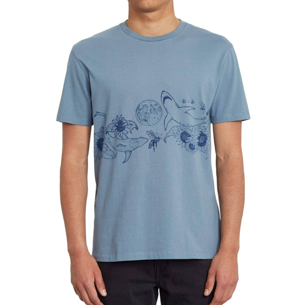 Volcom Pangea Seed FA T-Shirt Stormy Blue - Mens Graphic T-Shirt by Volcom