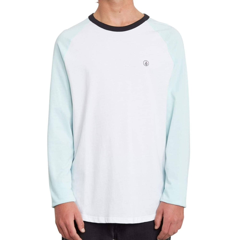 Volcom Pen BSC L/S T-Shirt Resin Blue - Mens Graphic T-Shirt by Volcom