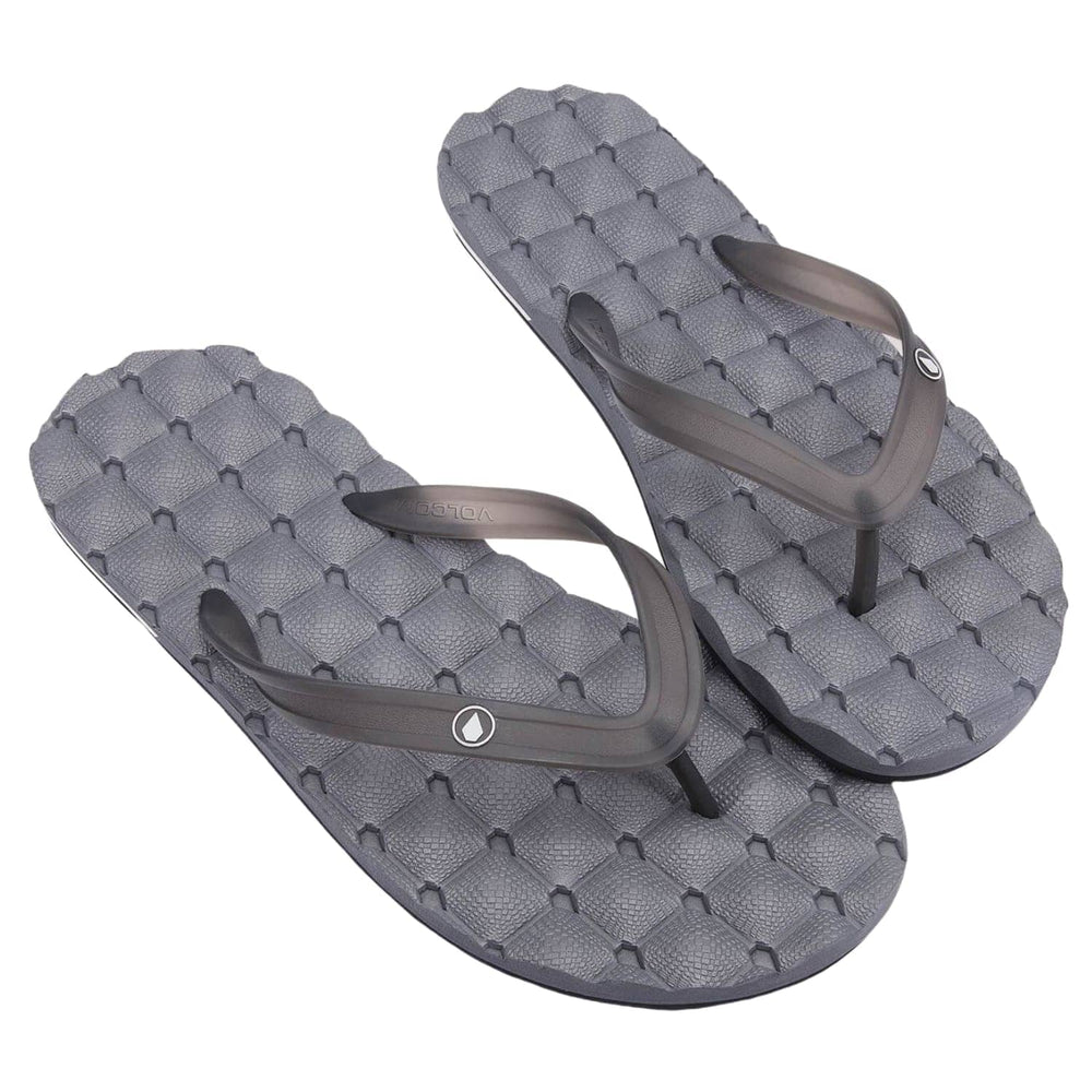 Volcom Recliner 2 Rubber Sandal - Black Grey