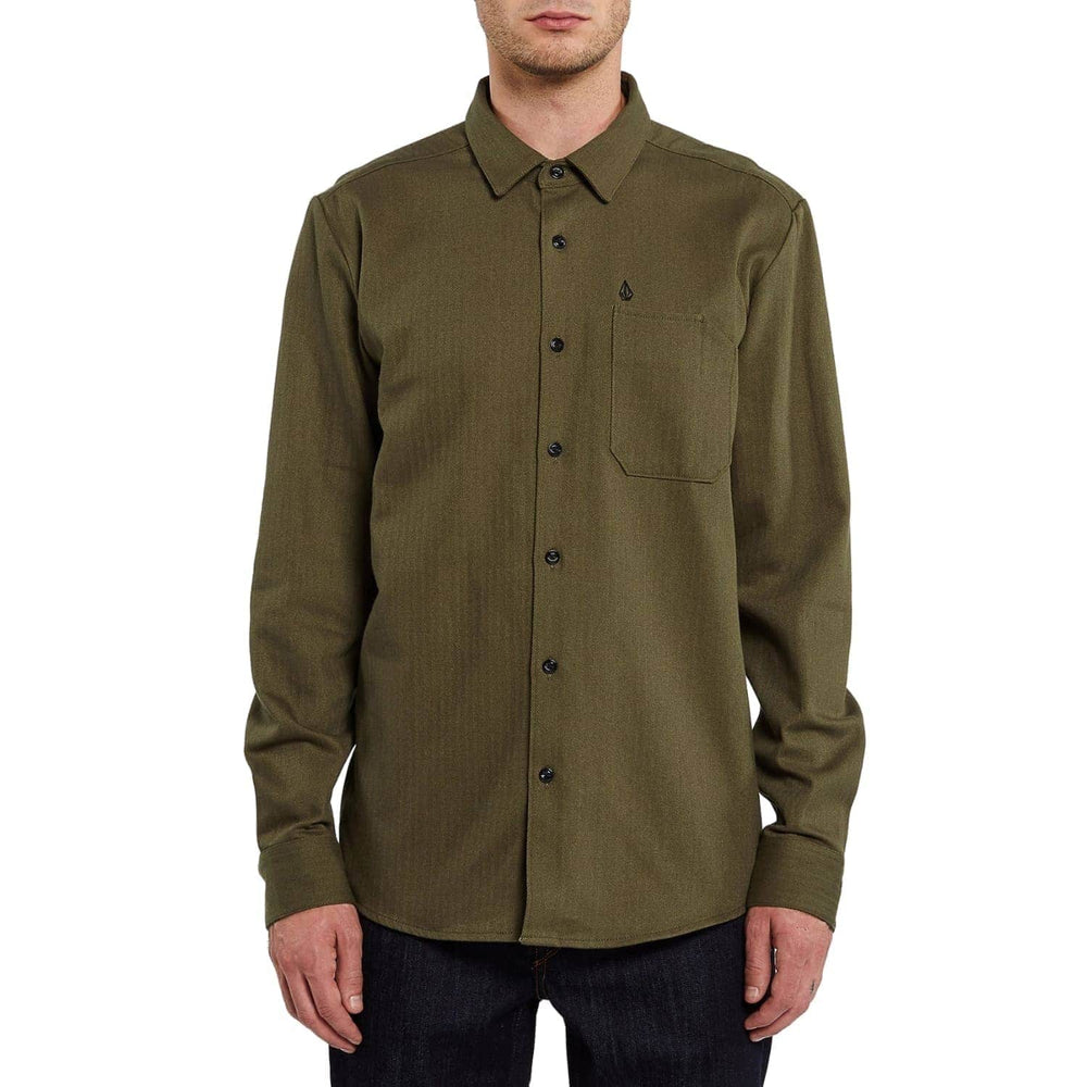Volcom Ridgewell L/S Shirt - Military - Mens Casual Shirt by Volcom