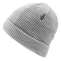 Volcom Snow Sweep Lined Beanie - Heather Grey - One Size - Fold Beanie by Volcom