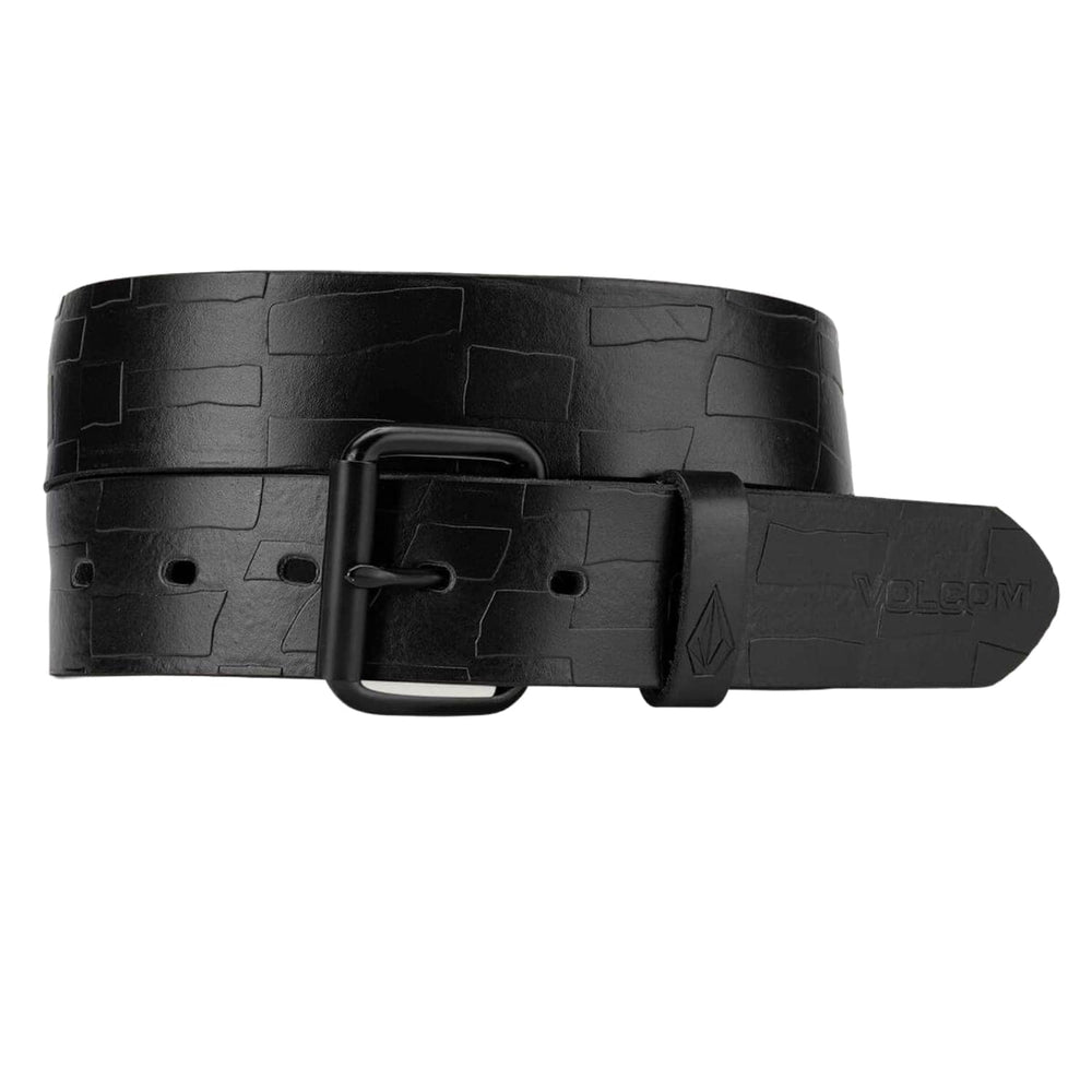 Volcom Stone MB Leather Belt Black - Mens Leather Belt by Volcom