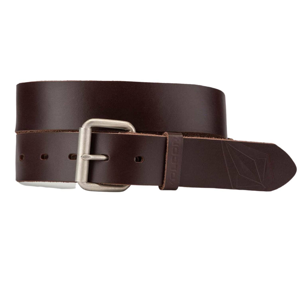 Volcom Straight Leather Belt - Brown