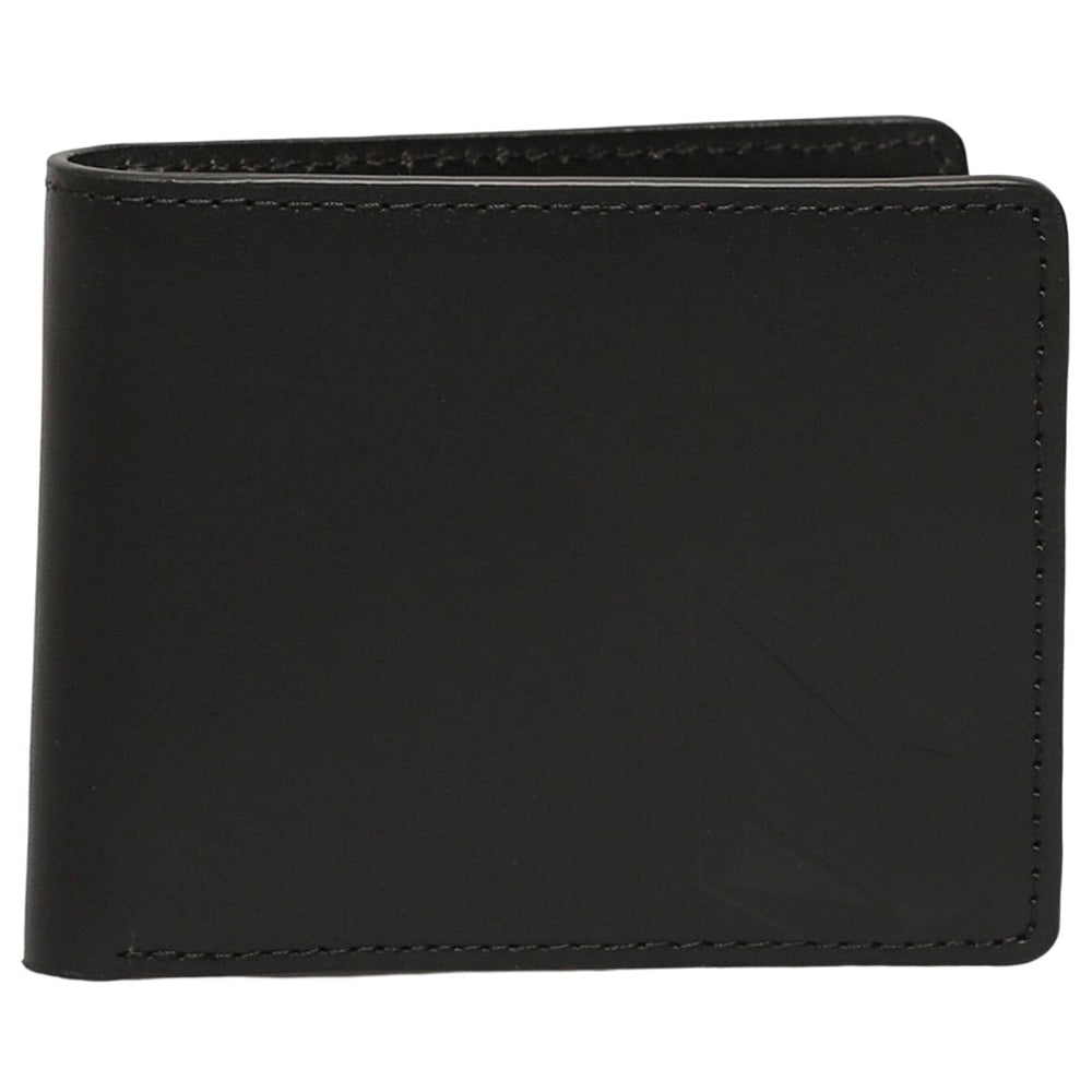 Volcom Straight Leather Wallet Black - Mens Wallet by Volcom N/A