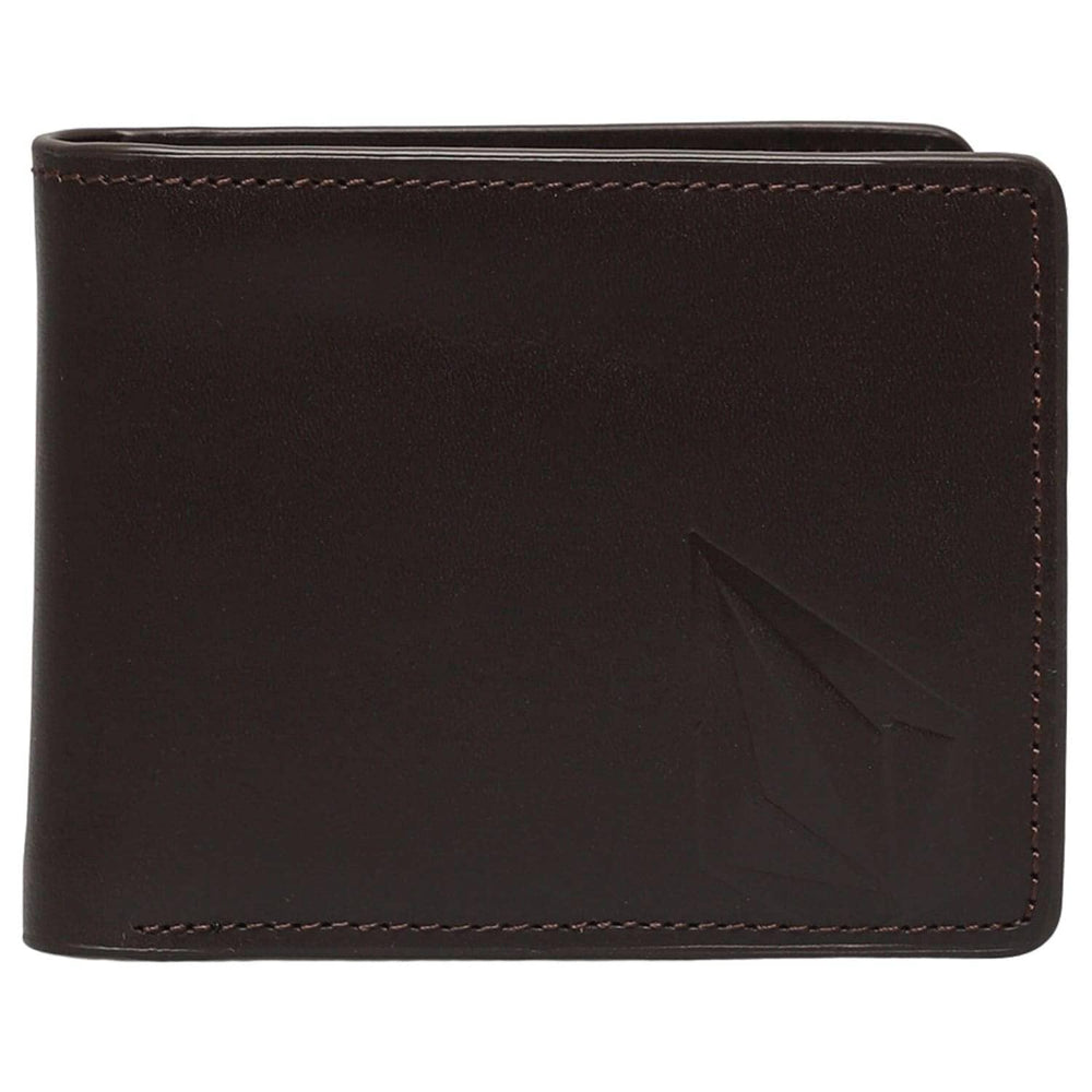 Volcom Straight Leather Wallet Brown - Mens Wallet by Volcom N/A