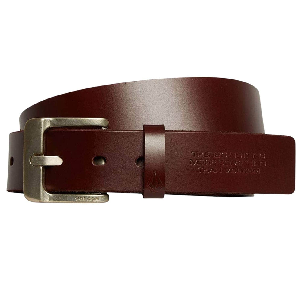 Volcom The Classic Leather LTH Belt - Brown - Mens Leather Belt by Volcom