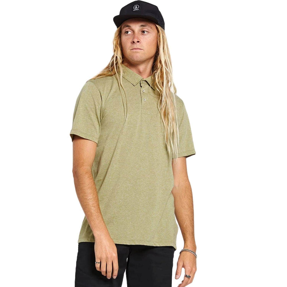 Volcom Wowzer Polo Shirt Moss Stone - Mens Polo Shirt by Volcom