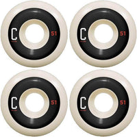 Chocolate C Sport Conical Skateboard Wheels - White