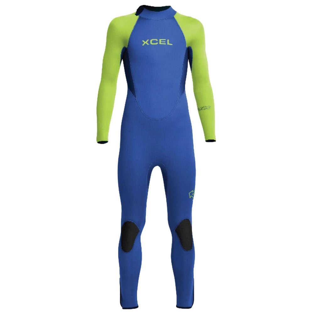 Xcel Kids 5/4mm Axis 2020/21 Wetsuit Faint Blue/Lime - Kids Full Length Wetsuit by Xcel