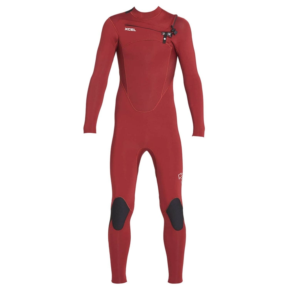 Xcel Kids Comp 3/2mm 2020 Chest Zip Youth Wetsuit Chilli Pepper - Kids Full Length Wetsuit by Xcel