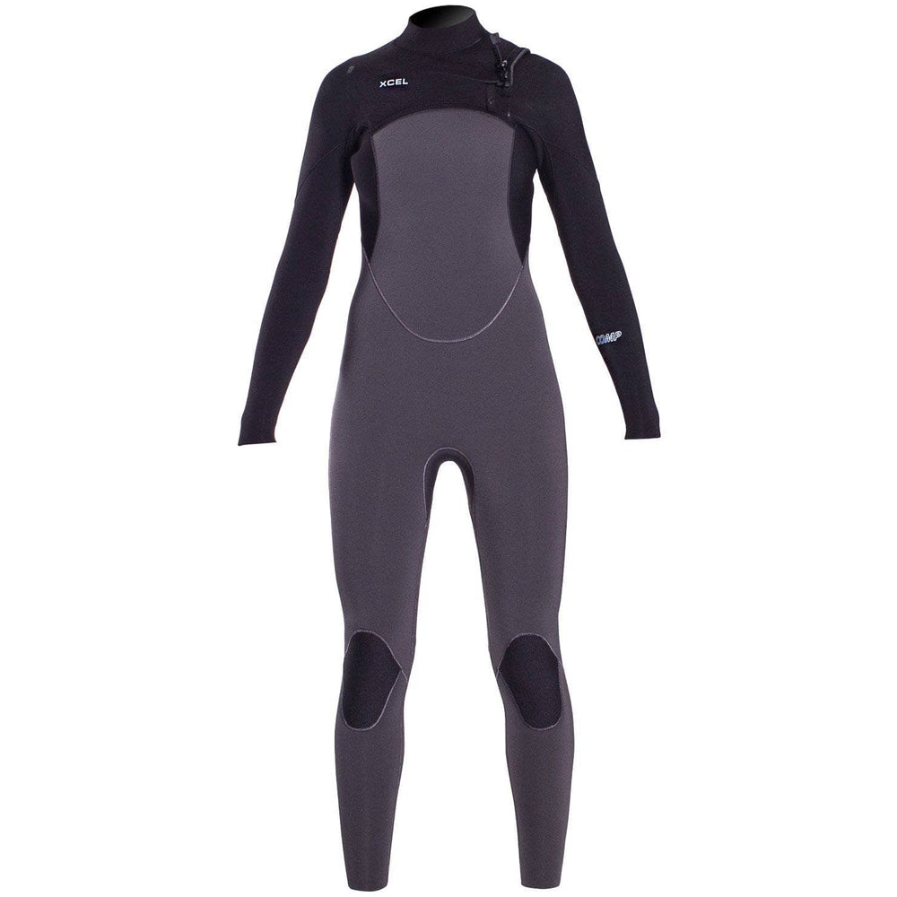 Xcel Womens 2019/20 5/4mm Comp Chest Zip Full Wetsuit - Black Womens Full Length Wetsuit by Xcel
