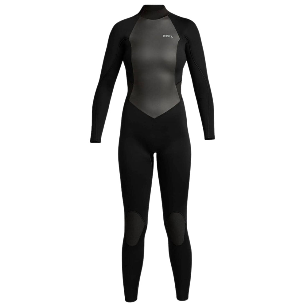 Xcel Womens 3/2 Axis Back Zip 2019 Wetsuit Black - Womens Full Length Wetsuit by Xcel 10T (large tall)