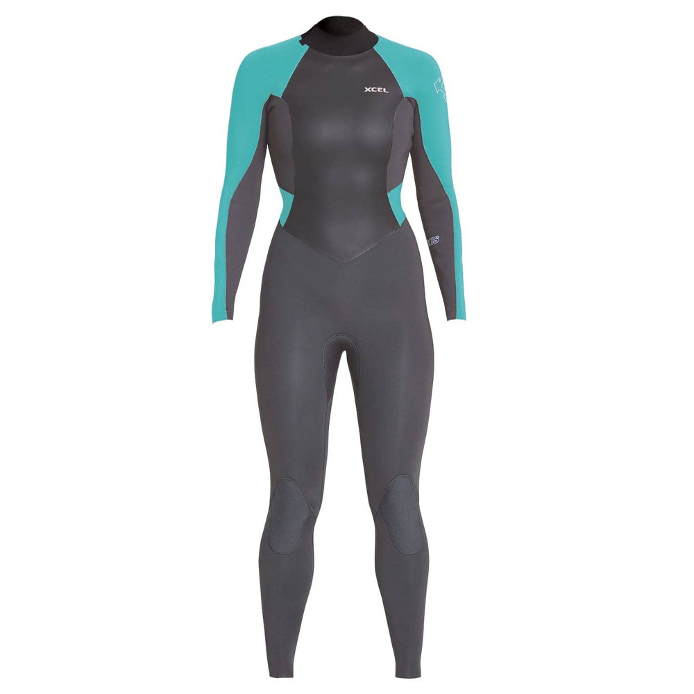 Xcel Womens Axis 4/3mm Back Zip Wetsuit 2020 Graphite - Womens Full Length Wetsuit by Xcel