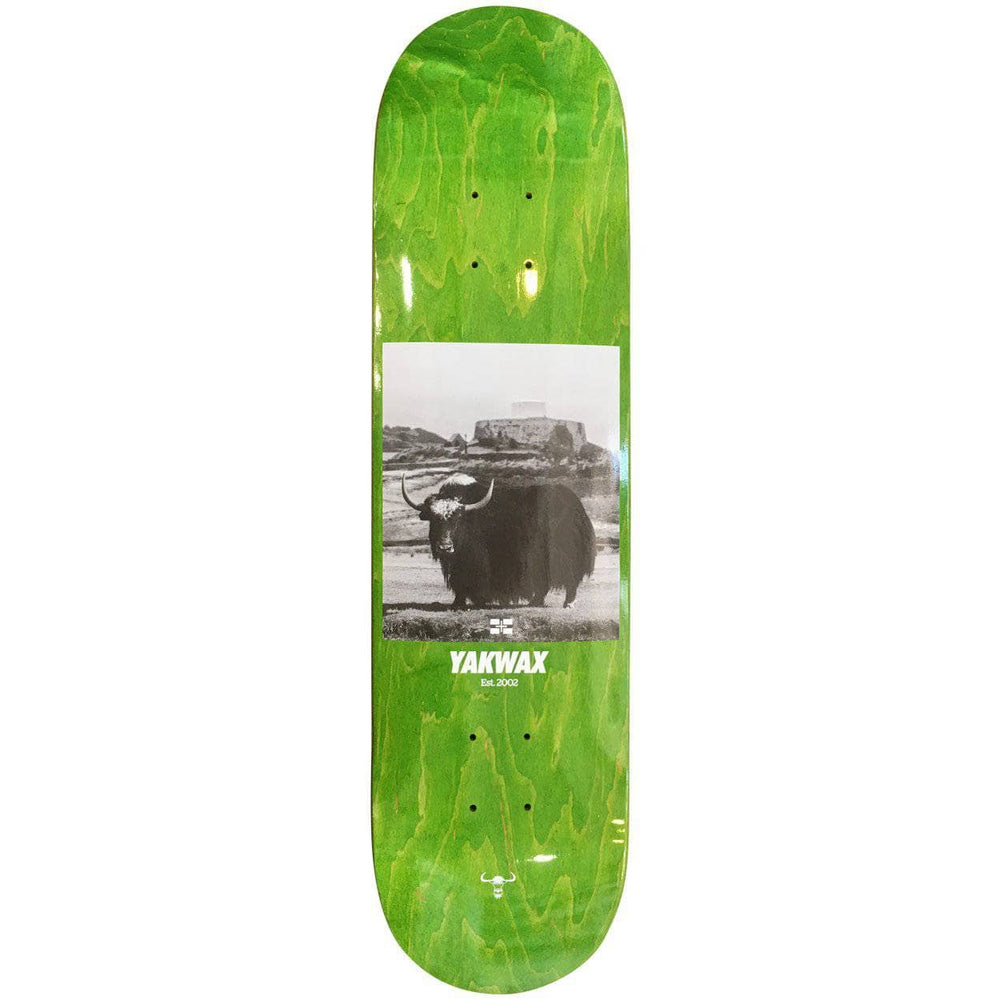 Yakwax Fort Grey Skate Deck Green Skateboard Deck by Yakwax