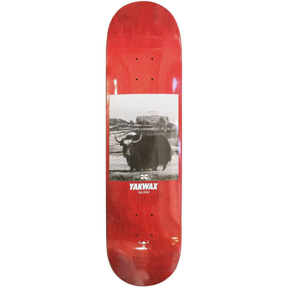 Yakwax Fort Grey Skate Deck Red Skateboard Deck by Yakwax