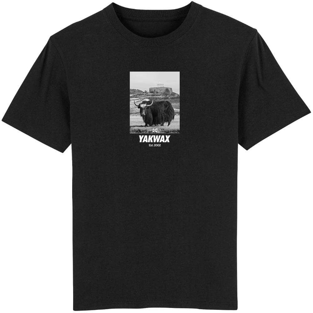 Yakwax Fort Grey T-Shirt Black Mens Graphic T-Shirt by Yakwax