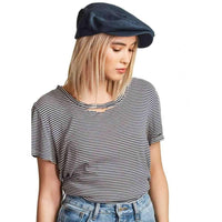 Brixton Barrel Snap Cap in Washed Navy Fedora/Trilby Hat by Brixton