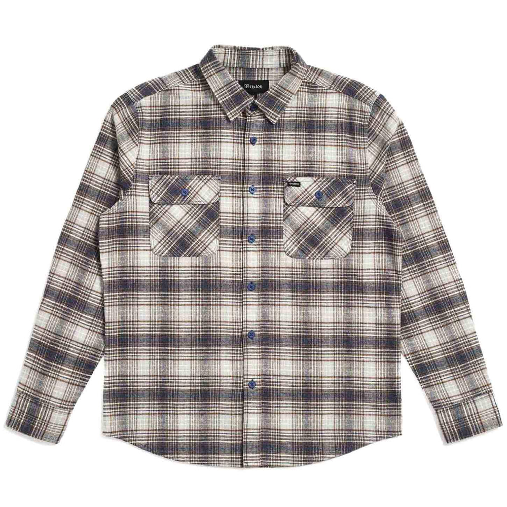 Brixton Mens Flannel Shirt Brixton Bowery L/S Flannel Shirt - Twilight Blue