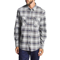 Brixton Bowery L/S Flannel Shirt - Twilight Blue Mens Flannel Shirt by Brixton