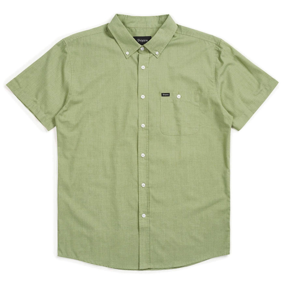 Brixton Central Woven S/S Shirt - Avocado Mens Casual Shirt by Brixton