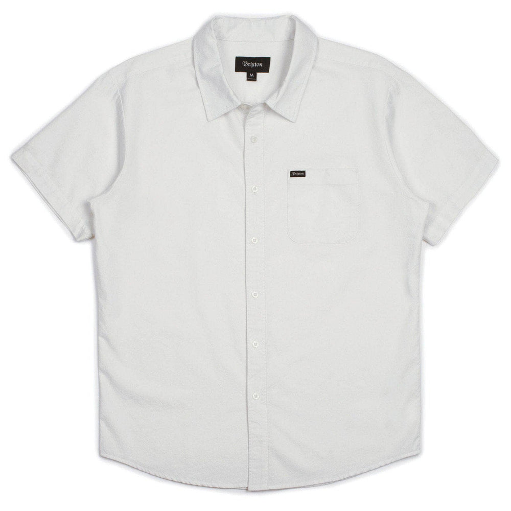 Brixton Charter Oxford Woven S/S Shirt - Off White Mens Casual Shirt by Brixton